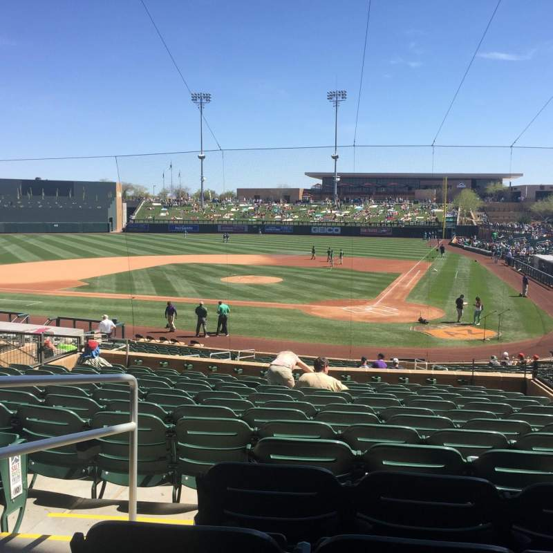 Seating view for Salt River Fields Section 214 Row 14 Seat 9