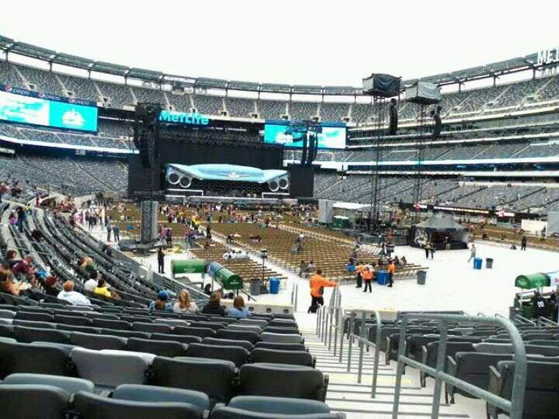 Seating view for MetLife Stadium Section 131 Row 17 Seat 1