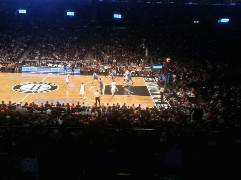 Seating view for Barclays Center Section 123 Row 6 Seat 12