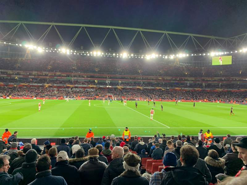 Seating view for Emirates Stadium Section 17 Row 17 Seat 528
