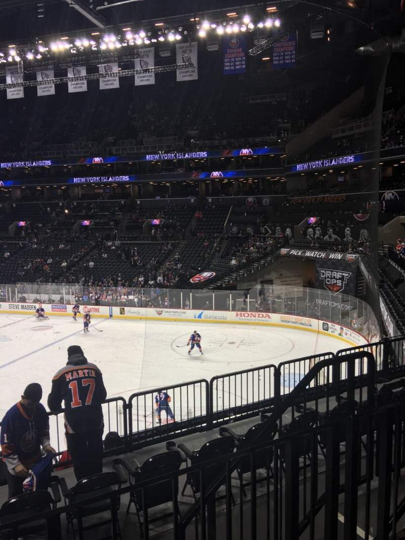 Seating view for Barclays Center Section 104 Row 5 Seat 6