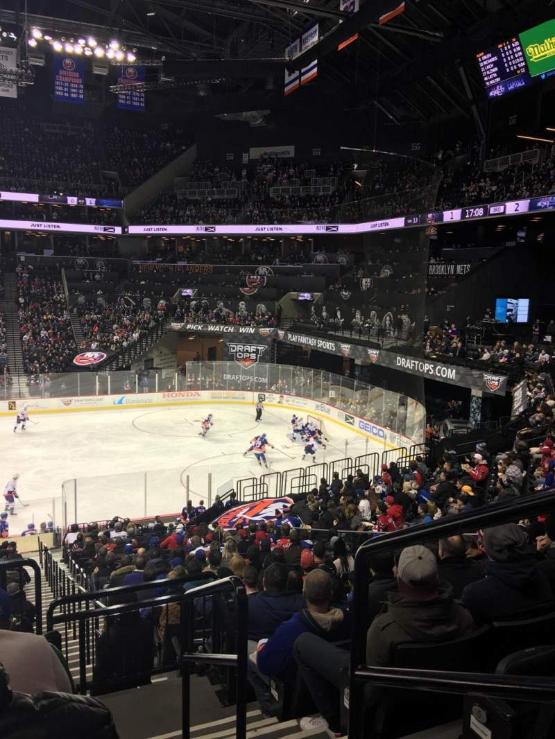 Seating view for Barclays Center Section 107 Row 7 Seat 1