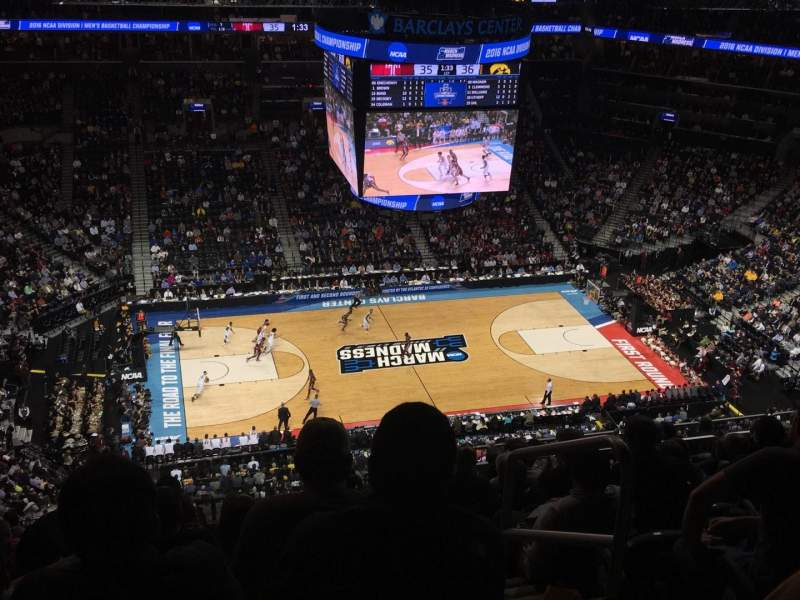 Seating view for Barclays Center Section 210 Row 15 Seat 2
