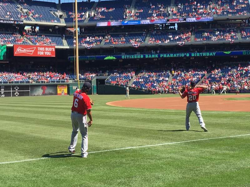 Seating view for Citizens Bank Park Section 136 Row 1 Seat 4