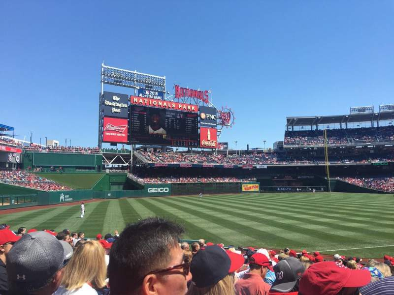 Seating view for Nationals Park Section 109 Row U Seat 2