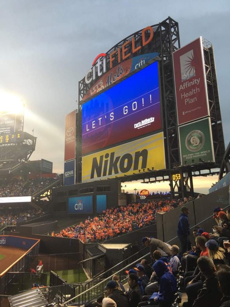 Seating view for Citi Field Section 101 Row 10 Seat 8