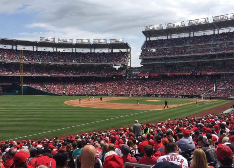 Seating view for Nationals Park Section 109 Row DD Seat 3