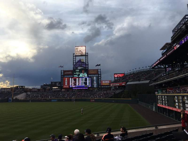 Seating view for Coors Field Section 112 Row 22 Seat 4