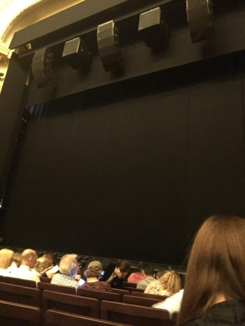 Seating view for Hudson Theatre Section Orchestra C Row H Seat 121