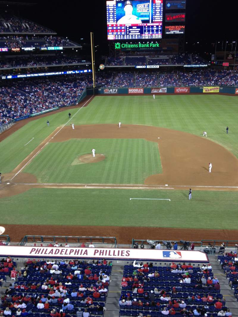Seating view for Citizens Bank Park Section 315 Row 1 Seat 9