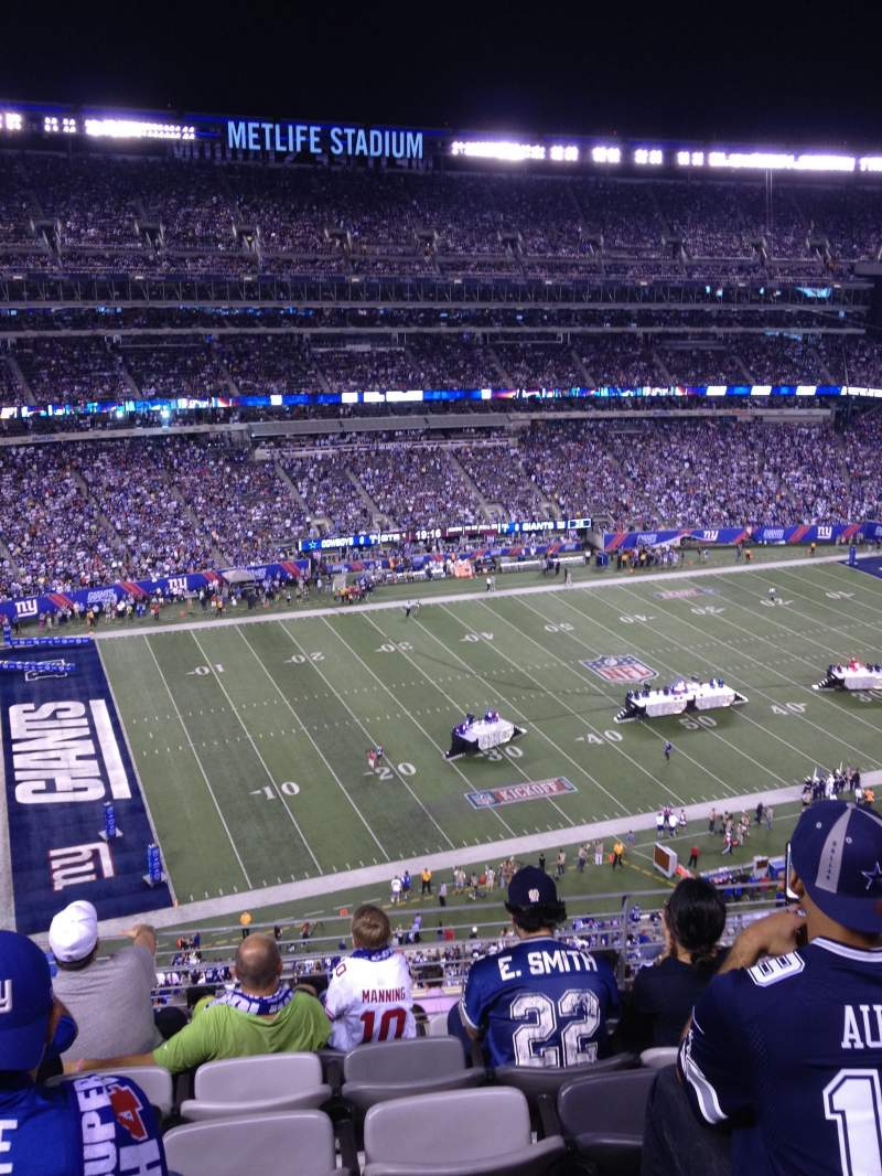 Seating view for Metlife Stadium Section 342 Row 5