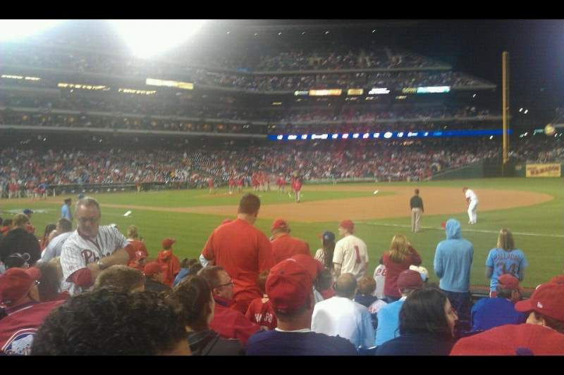 Seating view for Citizens Bank Park Section 112 Row 10 Seat 14
