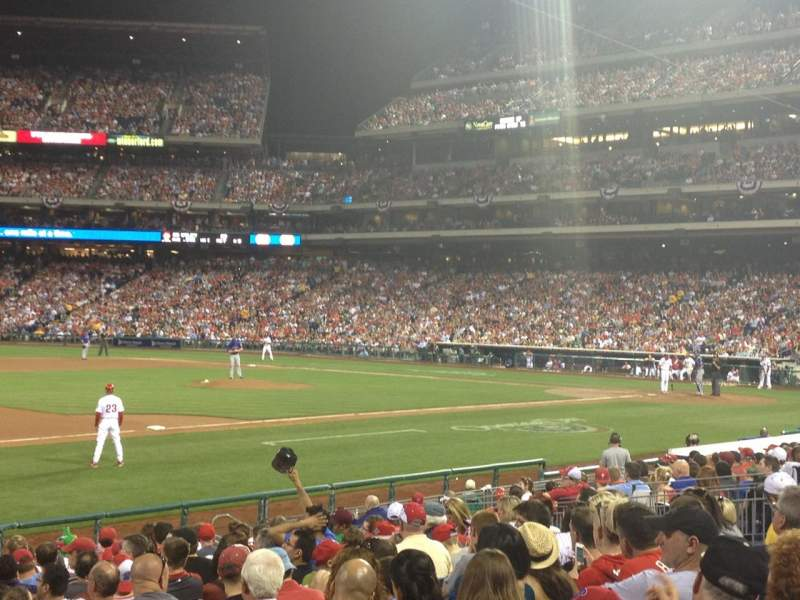 Seating view for Citizens Bank Park Section 134 Row 18 Seat 3