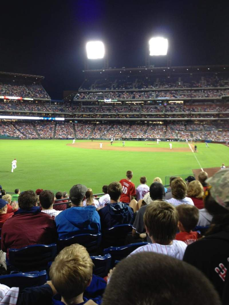 Seating view for Citizens Bank Park Section 141 Row 14 Seat 13