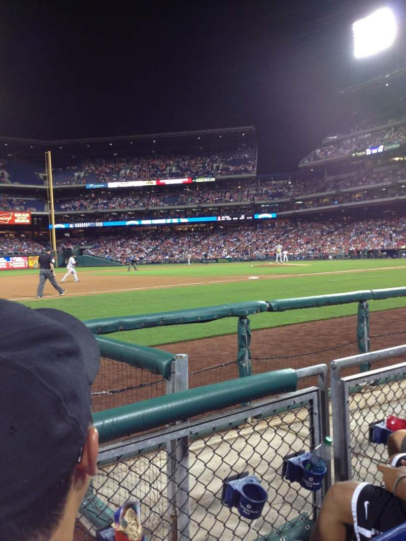 Seating view for Citizens Bank Park Section 133 Row 2 Seat 4