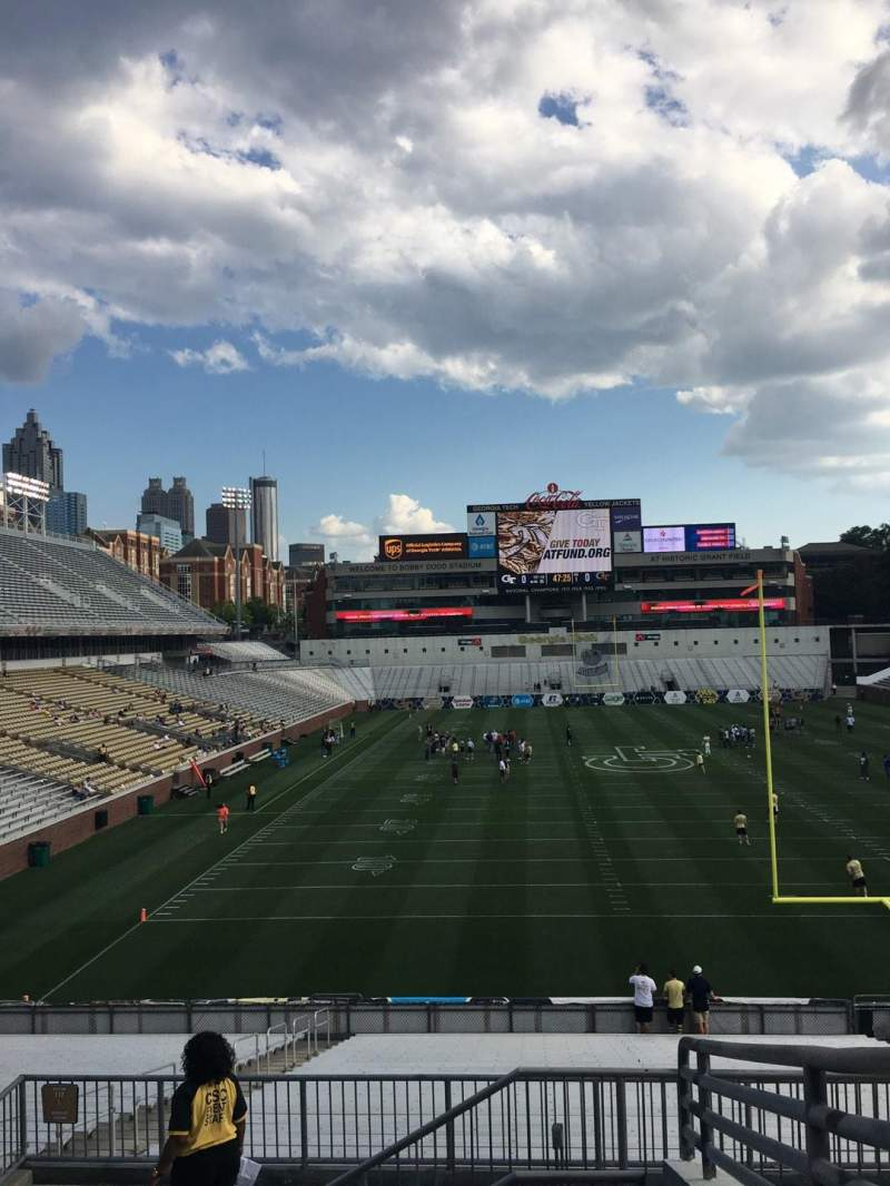 Seating view for Bobby Dodd Stadium Section U118 Row 1 Seat 26