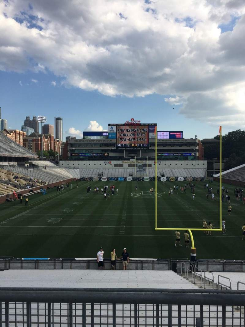 Seating view for Bobby Dodd Stadium Section 117 Row 25 Seat 6