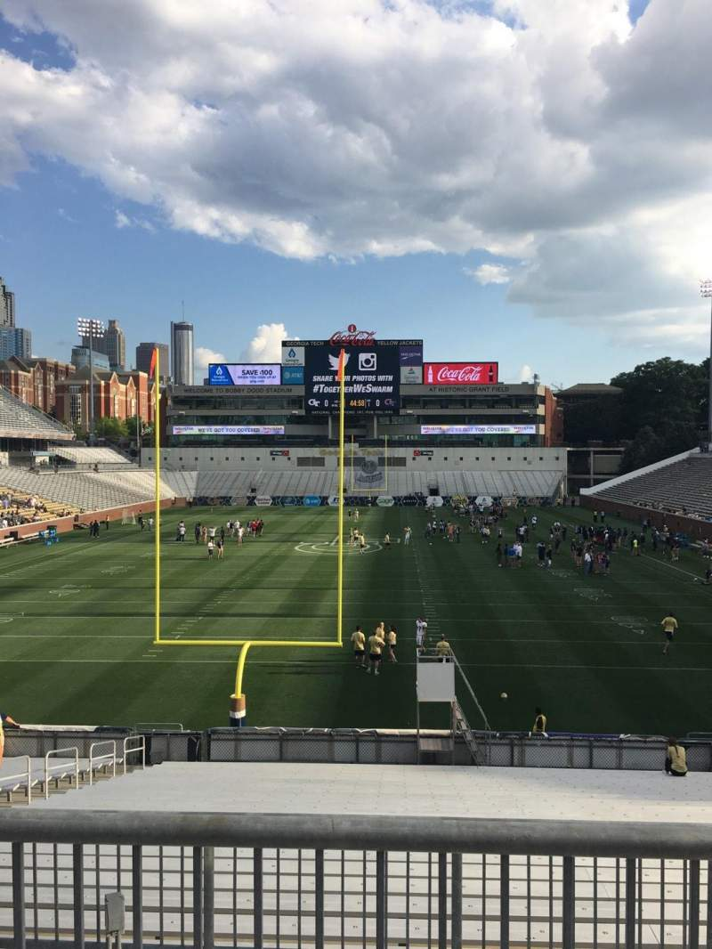 Seating view for Bobby Dodd Stadium Section 116 Row 27 Seat 8