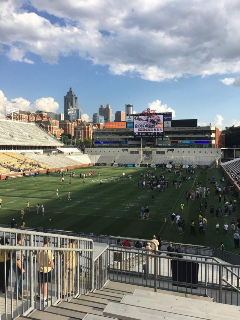 Seating view for Bobby Dodd Stadium Section 114 Row 34 Seat 3