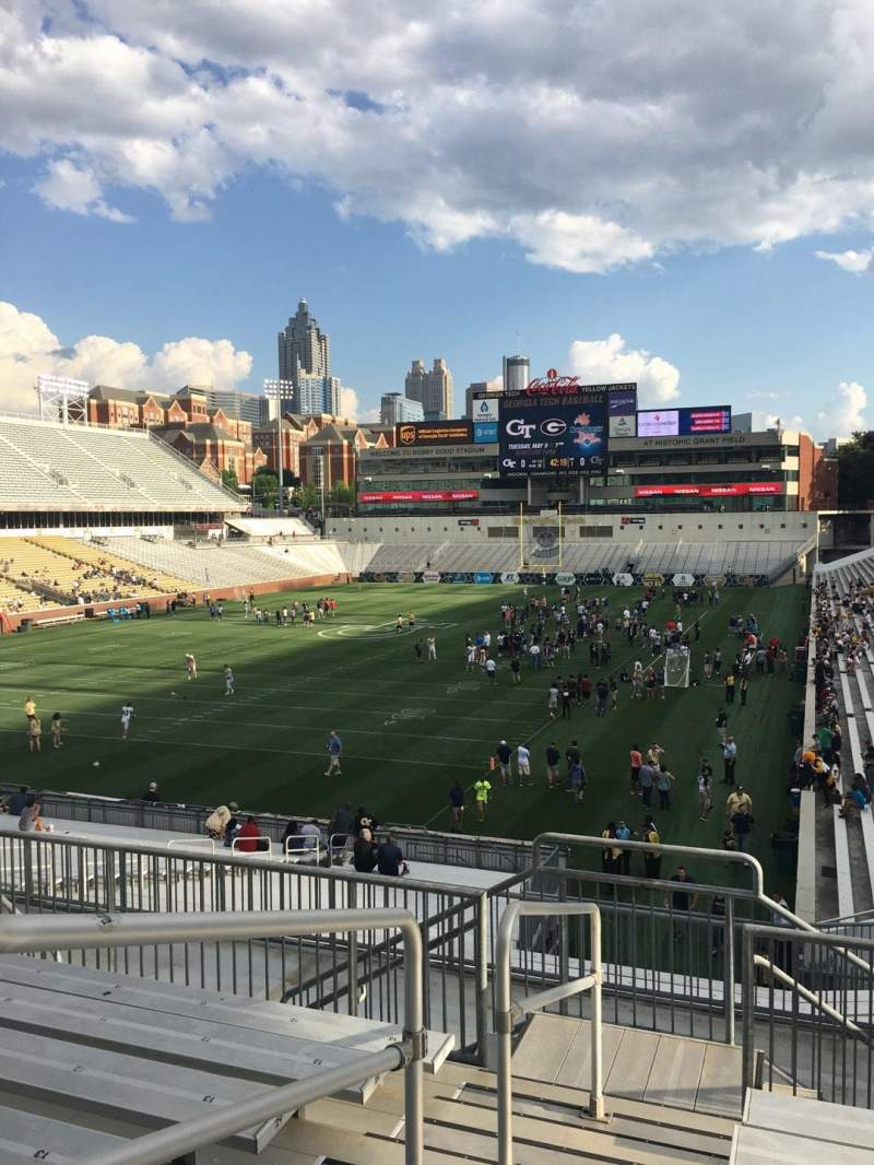 Seating view for Bobby Dodd Stadium Section 113 Row 33 Seat 1