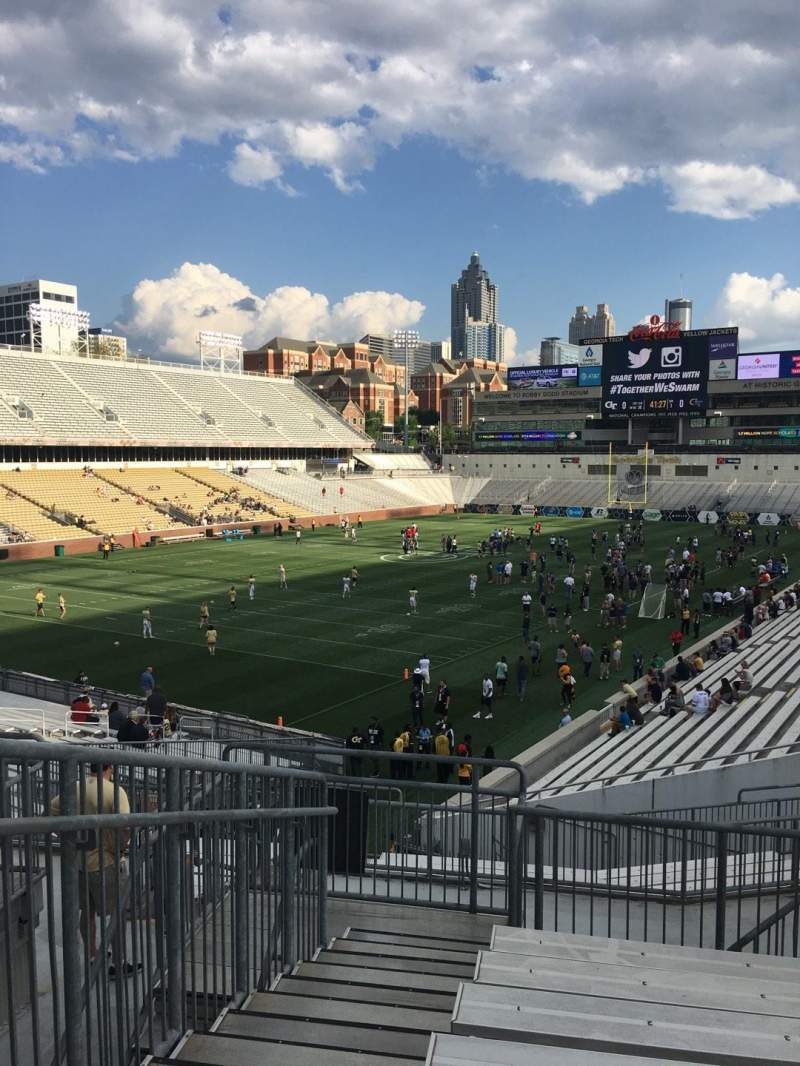 Seating view for Bobby Dodd Stadium Section 112 Row 34 Seat 1