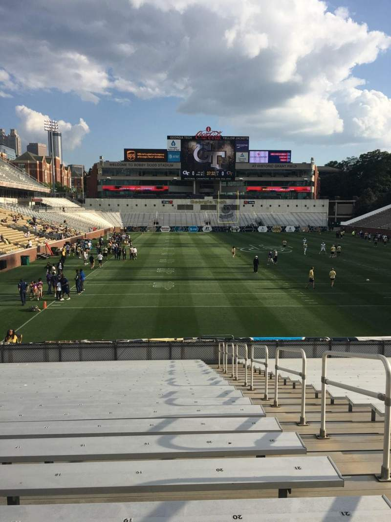 Seating view for Bobby Dodd Stadium Section 118 Row 23 Seat 20