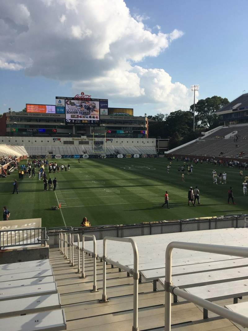 Seating view for Bobby Dodd Stadium Section 119 Row 22 Seat 23