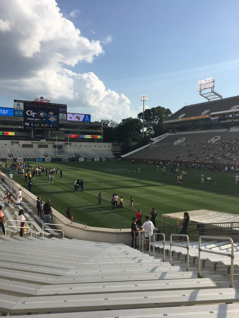 Seating view for Bobby Dodd Stadium Section 120 Row 22 Seat 27