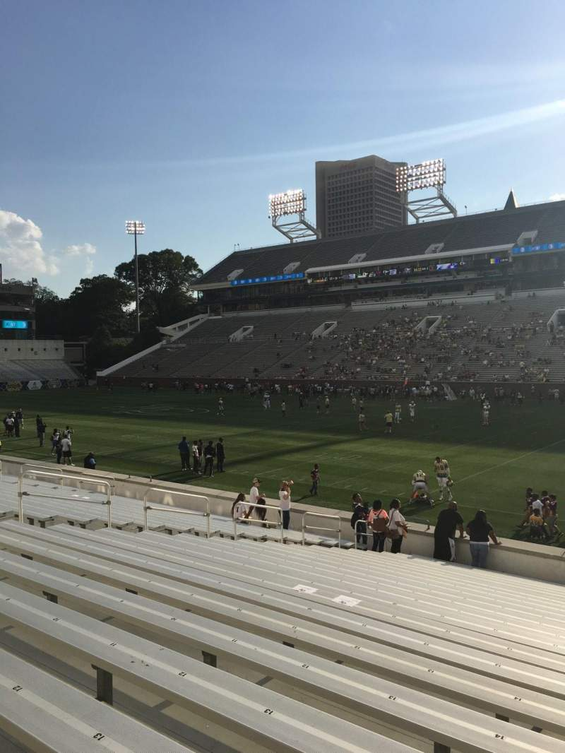 Seating view for Bobby Dodd Stadium Section 121 Row 22 Seat 17
