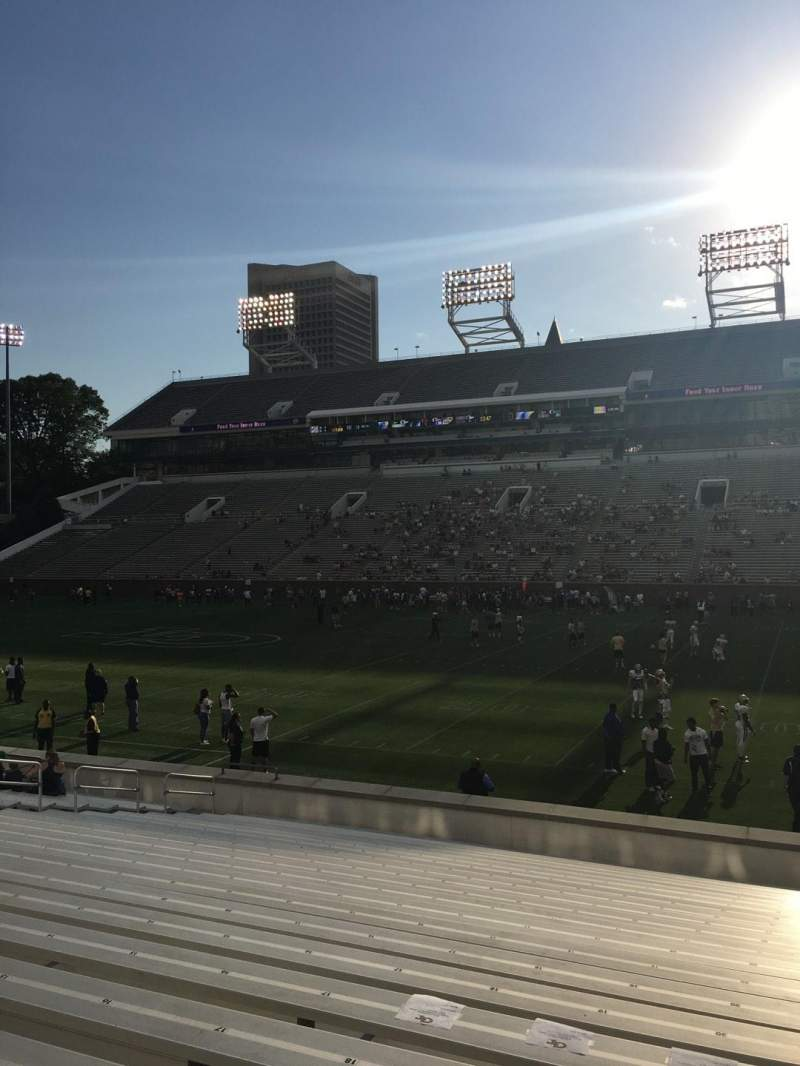 Seating view for Bobby Dodd Stadium Section 123 Row 22 Seat 21