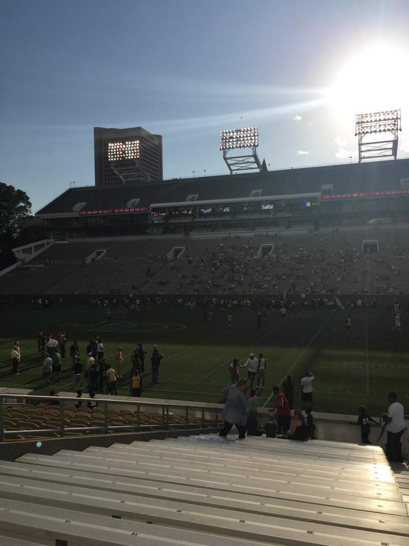 Seating view for Bobby Dodd Stadium Section 124 Row 22 Seat 22