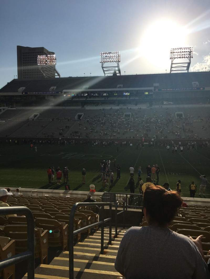 Seating view for Bobby Dodd Stadium Section CL1 Row 20 Seat 1