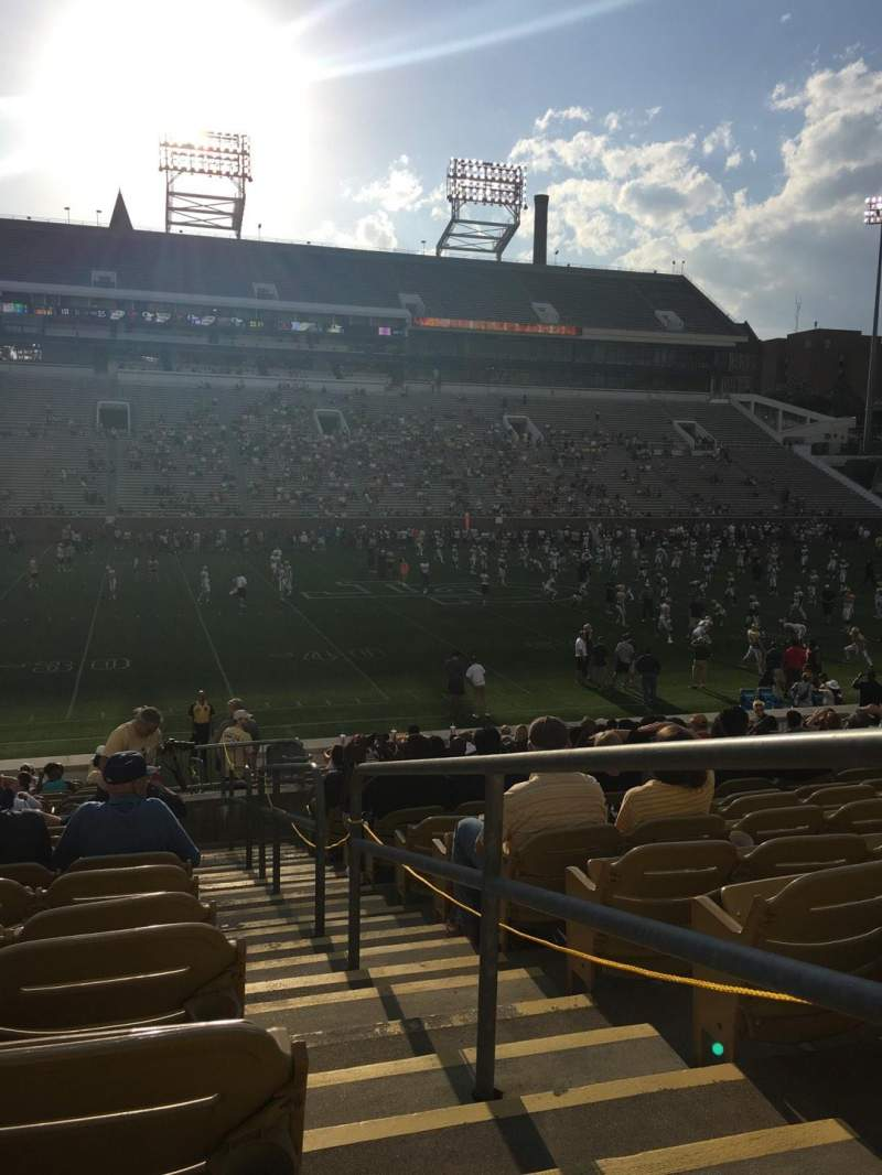 Seating view for Bobby Dodd Stadium Section CL4 Row 23 Seat 22