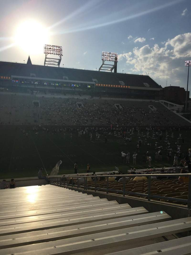 Seating view for Bobby Dodd Stadium Section 127 Row 30 Seat 1