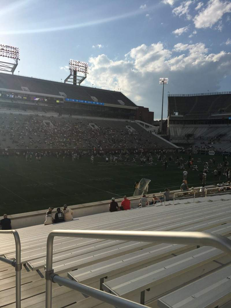 Seating view for Bobby Dodd Stadium Section 129 Row 22 Seat 21