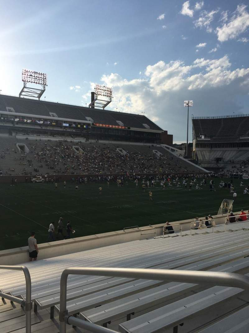 Seating view for Bobby Dodd Stadium Section 130 Row 22 Seat 23