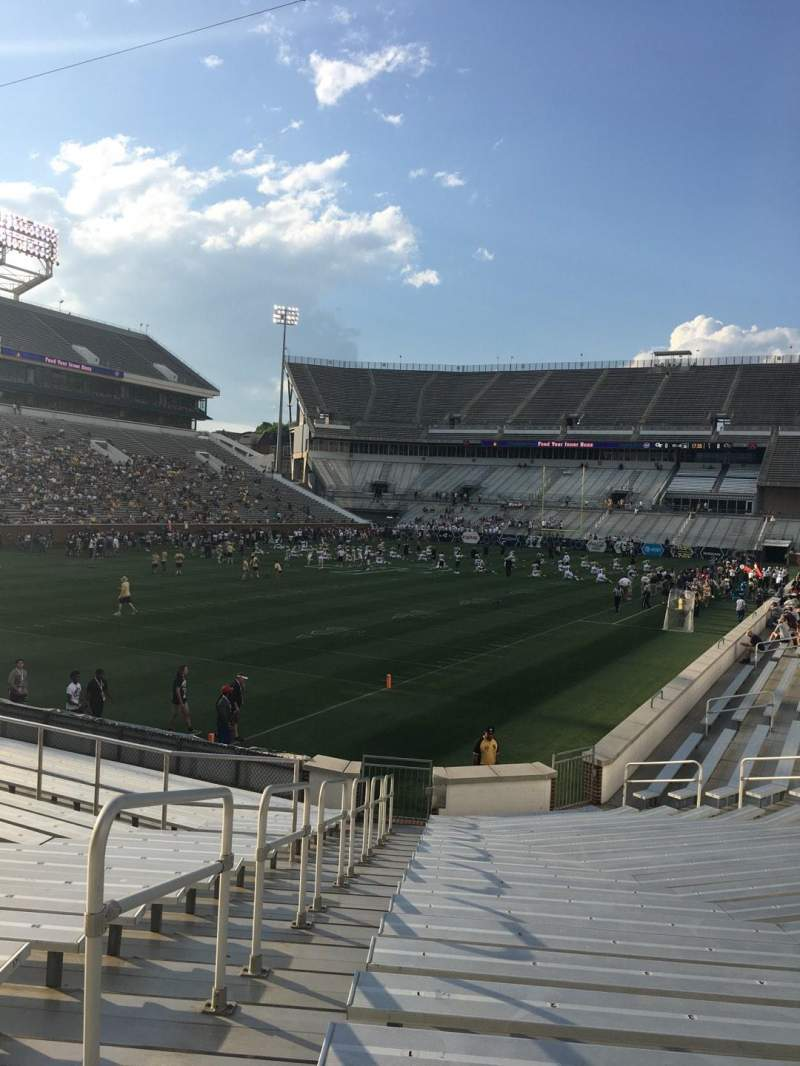 Seating view for Bobby Dodd Stadium Section 131 Row 22 Seat 1