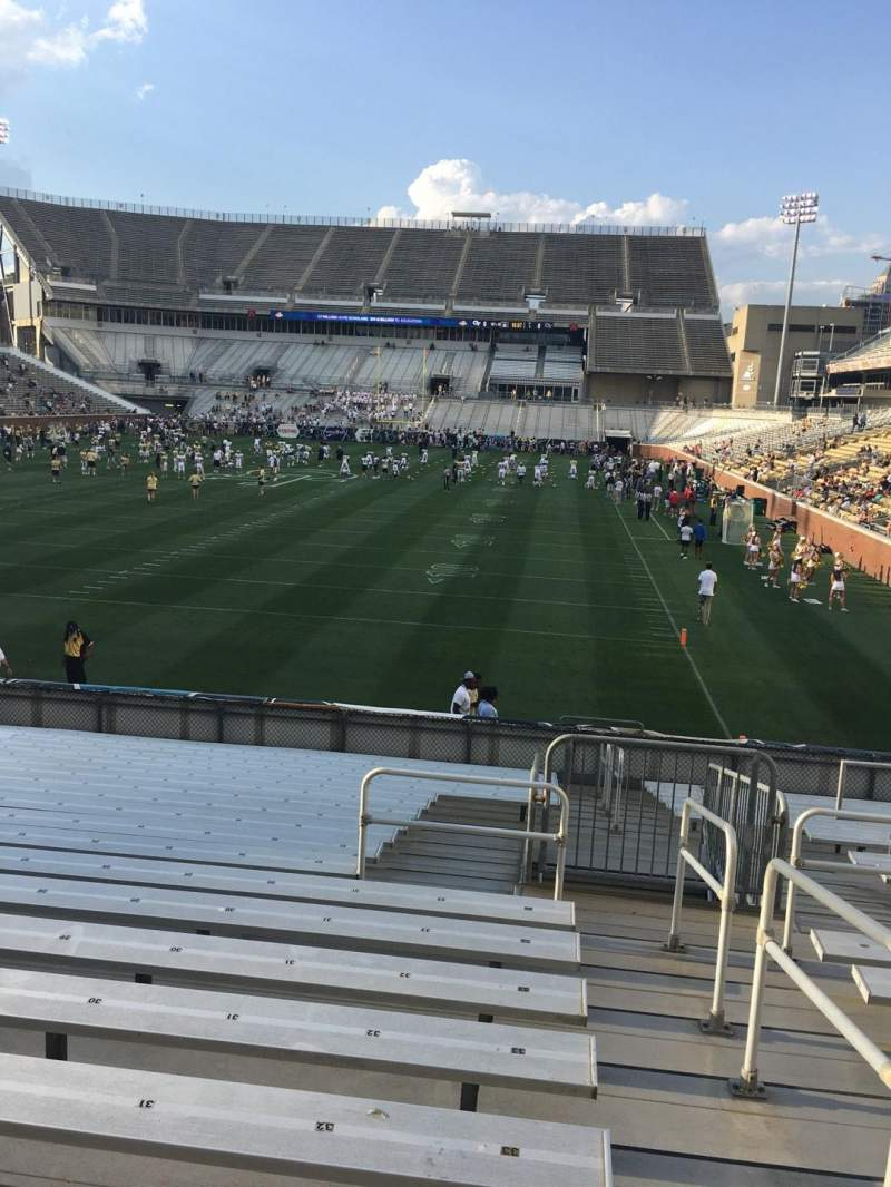 Seating view for Bobby Dodd Stadium Section 133 Row 22 Seat 33