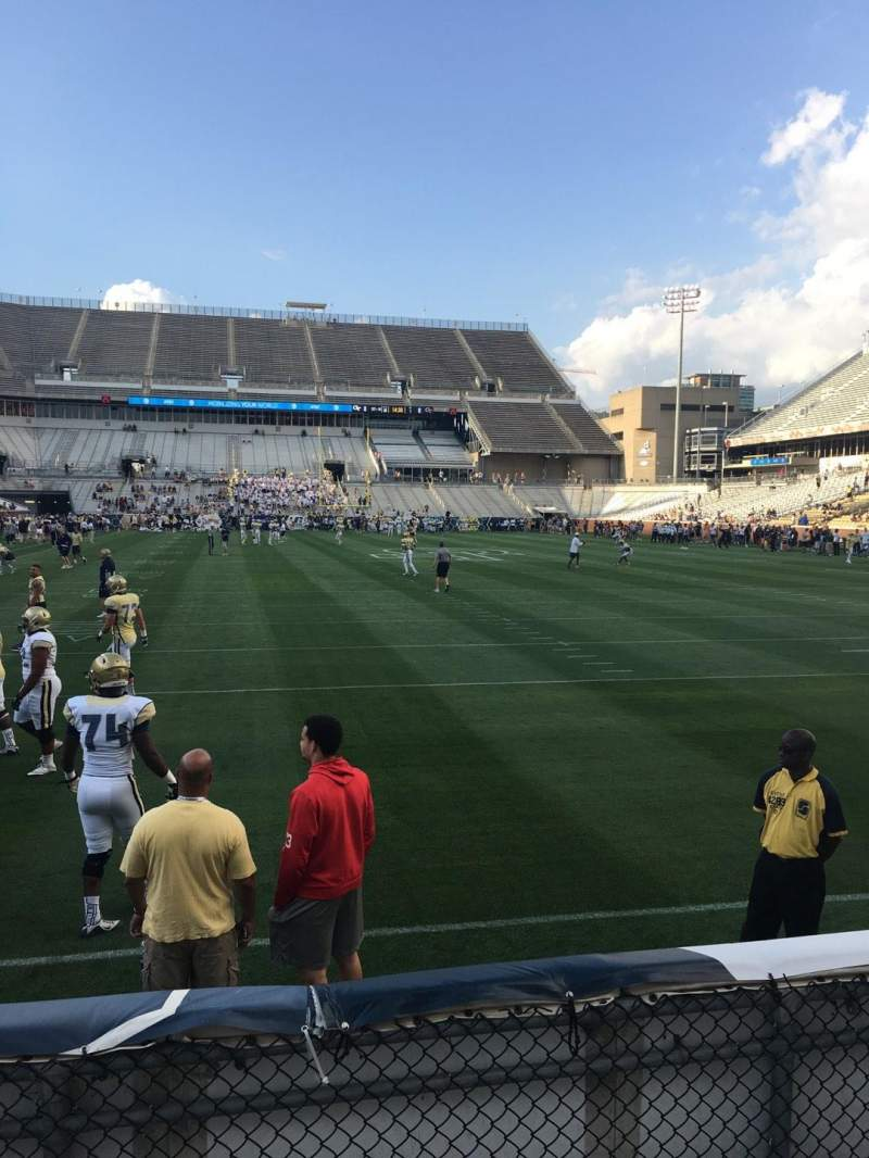 Seating view for Bobby Dodd Stadium Section 135 Row 4 Seat 21