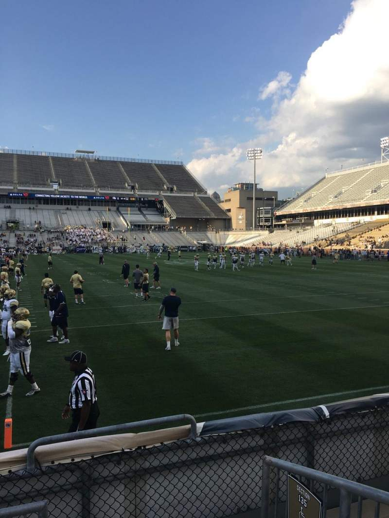 Seating view for Bobby Dodd Stadium Section 136 Row 4 Seat 15