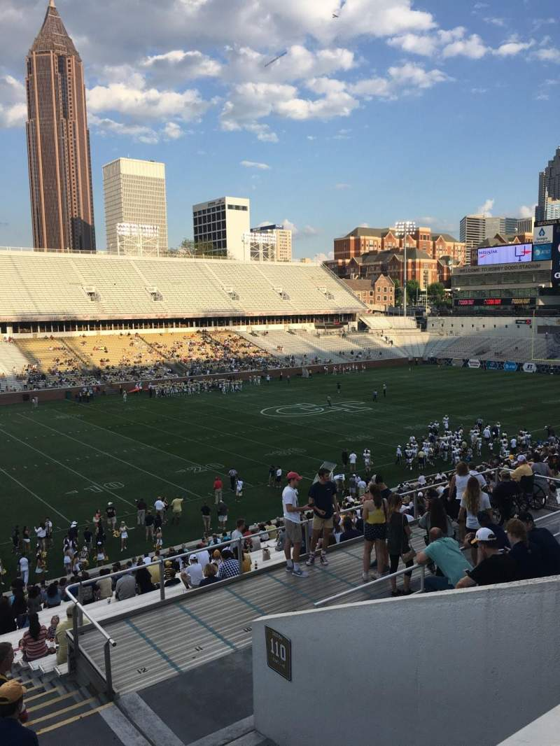 Seating view for Bobby Dodd Stadium Section 111 Row 38 Seat 5
