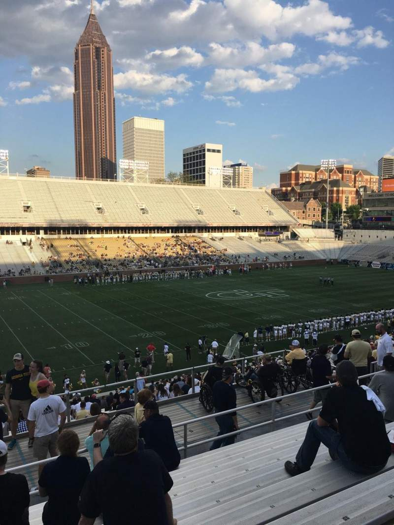 Seating view for Bobby Dodd Stadium Section 110 Row 38 Seat 20