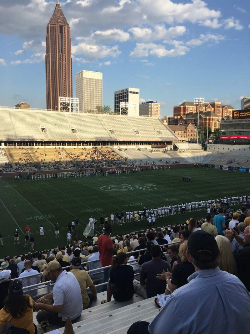 Seating view for Bobby Dodd Stadium Section 109 Row 38 Seat 24