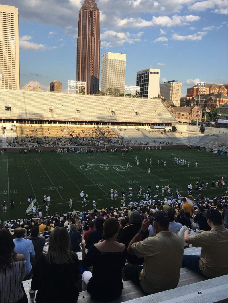 Seating view for Bobby Dodd Stadium Section 108 Row 48 Seat 24