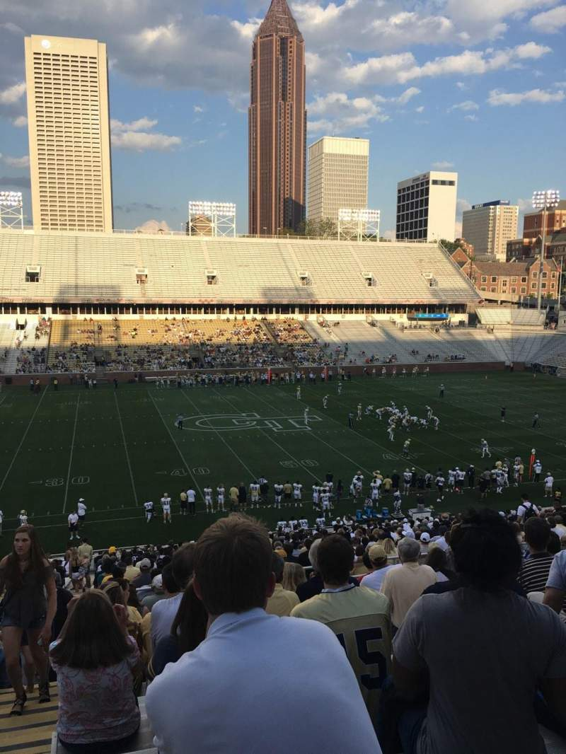 Seating view for Bobby Dodd Stadium Section 107 Row 42 Seat 24