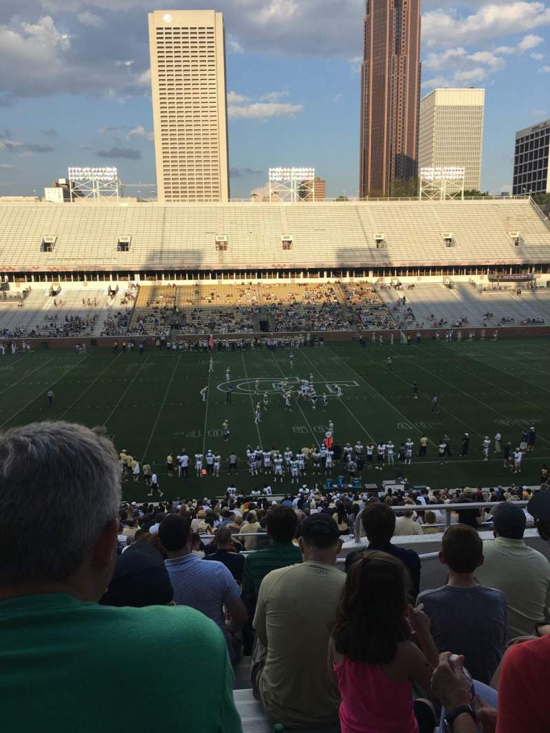 Seating view for Bobby Dodd Stadium Section 107 Row 45 Seat 5