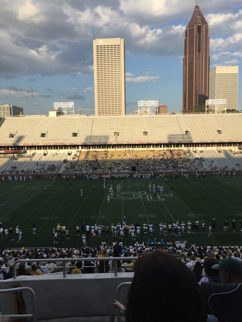 Seating view for Bobby Dodd Stadium Section 106 Row 44 Seat 24