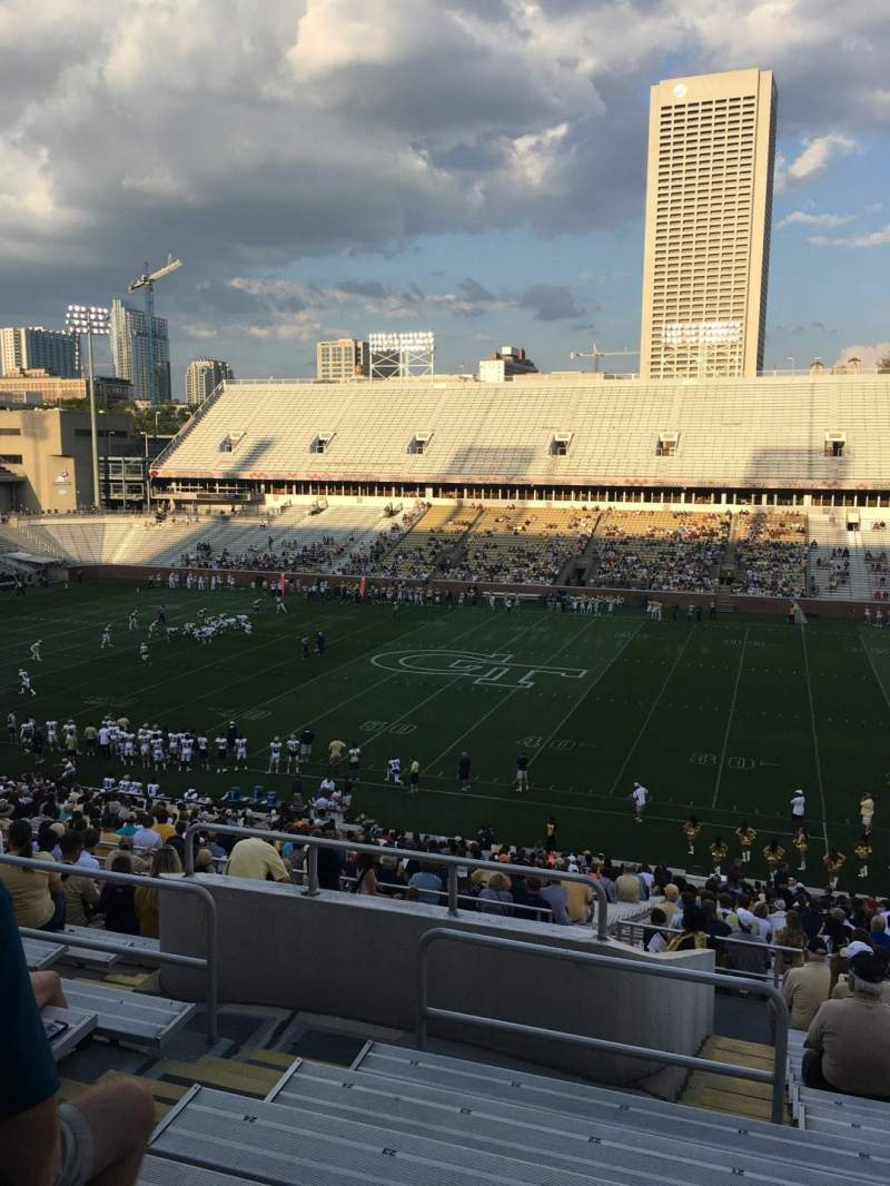 Seating view for Bobby Dodd Stadium Section 104 Row 45 Seat 21