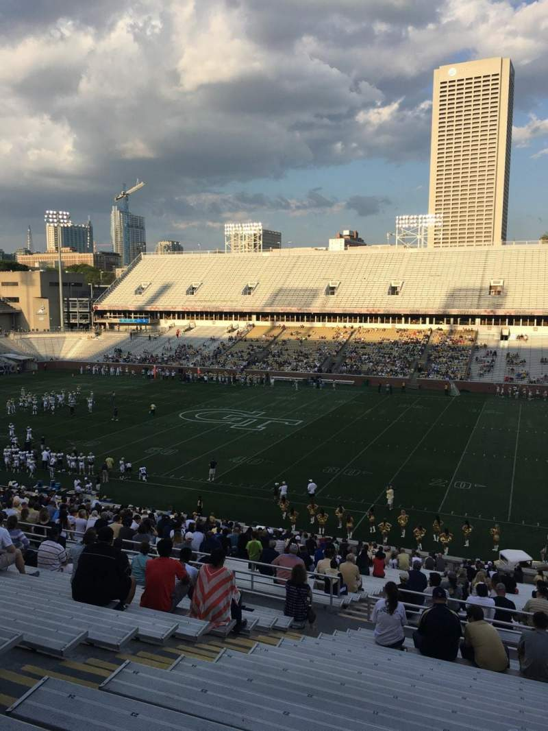 Seating view for Bobby Dodd Stadium Section 103 Row 44 Seat 19