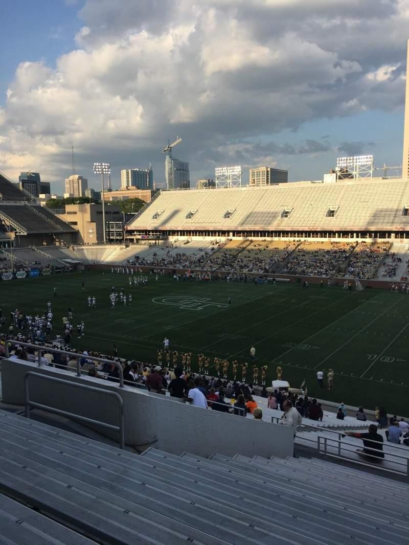 Bobby Dodd Stadium, section: 102, row: 44, seat: 13